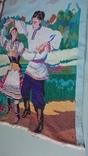 """Вышитая картина """"Украинский танец"""" врмен СССР, фото №4"""