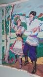 """Вышитая картина """"Украинский танец"""" врмен СССР, фото №5"""