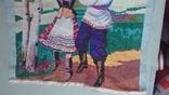"""Вышитая картина """"Украинский танец"""" врмен СССР, фото №10"""