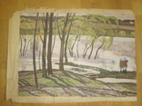 "А. Сафаргалин  "" У реки. ""  77х56 см., фото №2"