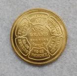 """США 10 долларов 1974 """"ЗОЛОТО"""" копия, фото №2"""