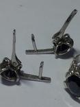 Кольцо и серьги с камнем серебро., фото №7