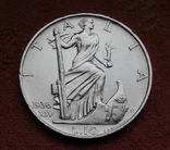 10 лир 1936 г. Италия, серебро, фото №3
