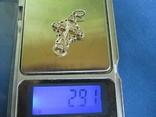 Крестик серебро с циркониями., фото №8