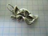 Кулон рыбка серебро., фото №7