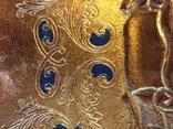 Винтажный флорентийский деревянный поднос, фото №6