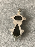 Массивный серебряный кулон с лабрадором и гранатом (серебро 925 пр, вес 20 гр), фото №7