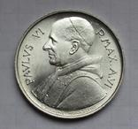 500 лир 1968 г. Ватикан, серебро, фото №2