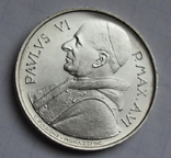 500 лир 1968 г. Ватикан, серебро, фото №4
