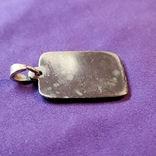 Серебряный медальон Христос Спаситель, фото №4
