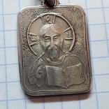 Серебряный медальон Христос Спаситель, фото №7