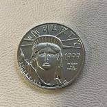 50$ США 1999 год  платина 15,5 грамм 999,5`, фото №2