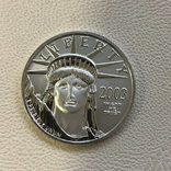 50$ США 2003 год  платина 15,5 грамм 999,5`, фото №2