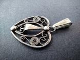 Старий срібний кулончик. 835 пр. Німеччина., фото №4