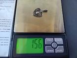 Старий срібний кулончик. 835 пр. Німеччина., фото №7