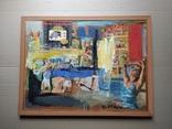 """Дамы""апплик. 41х56 см.Анатолий Шевчук(1951-2008), фото №2"