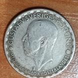 Швеция,1 крона, 1944 г., фото №2