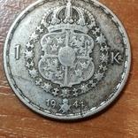 Швеция,1 крона, 1944 г., фото №3