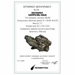 Залізний метеорит Campo del Cielo, 7,1 грам, із сертифікатом автентичності, фото №3