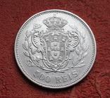 500 рейс 1908 г. Португалия, серебро, фото №5