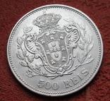 500 рейс 1908 г. Португалия, серебро, фото №7