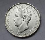500 рейс 1888 г. Португалия, серебро, фото №3