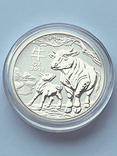 """Туба - 20 монет """"Lunar III - Год Быка"""" 2021 г. (серебро 999, 15,55 г), фото №6"""