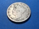 5 центов сша 1900 г., фото №2