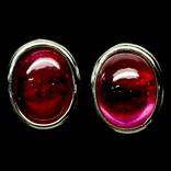 Серьги с натуральными рубинами, фото №2
