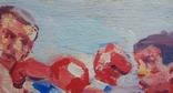 "В.Кнышевский ""На ринге"", х.м.24*37,5см, 1985, фото №5"