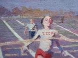 "В.Кнышевский ""Финиш"", х.м.32*54см, 1979г, фото №5"