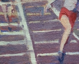 "В.Кнышевский ""Финиш"", х.м.32*54см, 1979г, фото №6"