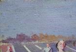 "В.Кнышевский ""Финиш"", х.м.32*54см, 1979г, фото №7"