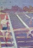 "В.Кнышевский ""Финиш"", х.м.32*54см, 1979г, фото №9"