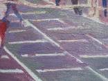"В.Кнышевский ""Финиш"", х.м.32*54см, 1979г, фото №10"
