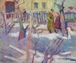 "В.Кнышевский ""Весна"", х.м.30*36см, 1985г, фото №2"
