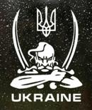 Наклейка на авто Козак - Ukraine (белая), фото №2