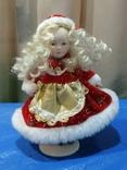 Кукла-Снегурочка фарфоровая, фото №2