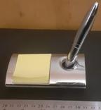Магнитная ручка с подставкой и блокнотом, фото №2