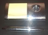 Магнитная ручка с подставкой и блокнотом, фото №3