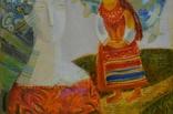 """Картина  """"Ой летели дикие гуси"""" 2012 г.  Художник Пантелемонова Инна., фото №4"""