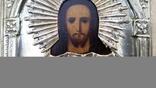Ікона Ісус, латунь, 22,5х18 см, фото №6
