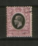 Брит. колонии. 1912 Протекторат Вост.Африки и Уганды, король Георг V, фото №2