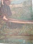 Дети бегущие от грозы. Полотно. Копия., фото №8