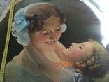 """Старинная картина""""Женщина с ребёнком"""", фото №3"""