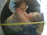 """Старинная картина""""Женщина с ребёнком"""", фото №5"""