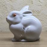 Статуэтка «Зайчик (Кролик)» / Полонное / Фарфор СССР, фото №3