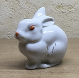 Статуэтка «Зайчик (Кролик)» / Полонное / Фарфор СССР, фото №4