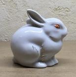 Статуэтка «Зайчик (Кролик)» / Полонное / Фарфор СССР, фото №6