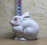 Статуэтка «Зайчик (Кролик)» / Полонное / Фарфор СССР, фото №12